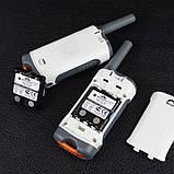 Рация Motorola TLKR T50 (0.5W, PMR446, 446 MHz, до 6 км, 8 каналов, 4xAAA), комплект 2шт, бело-серая, фото 6