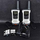 Рация Motorola TLKR T50 (0.5W, PMR446, 446 MHz, до 6 км, 8 каналов, 4xAAA), комплект 2шт, бело-серая, фото 8