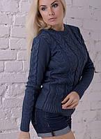Кофта женская, модная кофта, теплая Джинс, фото 1