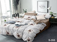 Комплект постельного белья Евро макси сатиновое цветочный принт S355