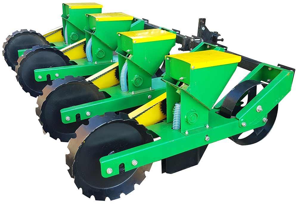 Сеялка овощная для мототрактора четырехрядная СМ-4М