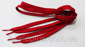 Шнурки в кроссовки плоские 100 см темно-красные (10 мм)