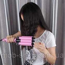 Тройная плойка для завивки волос Gemei GM-1956