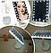 Зеркало настольное с подсветкой LED бренд Large Led Mirror для макияжа разные цвета, фото 2