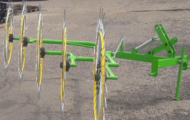 Навесные грабли ворошилки 5-колесные