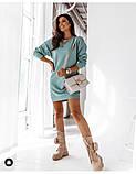 Женское платье свободное двухнитка длинный рукав резинка на талии размер: 42-44,46-48,50-52,54-56, фото 4