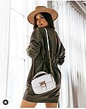 Женское платье свободное двухнитка длинный рукав резинка на талии размер: 42-44,46-48,50-52,54-56, фото 8