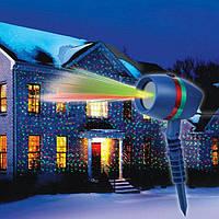 Лазерный проектор напраздник Star Shower lazer light (уличный светодиодный лазерный проектор на дом)