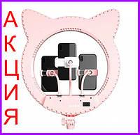 Кольцевая лампа кошка со штативом кольцевая LED лампа лампа в форме головы кошки со штативом для блогера