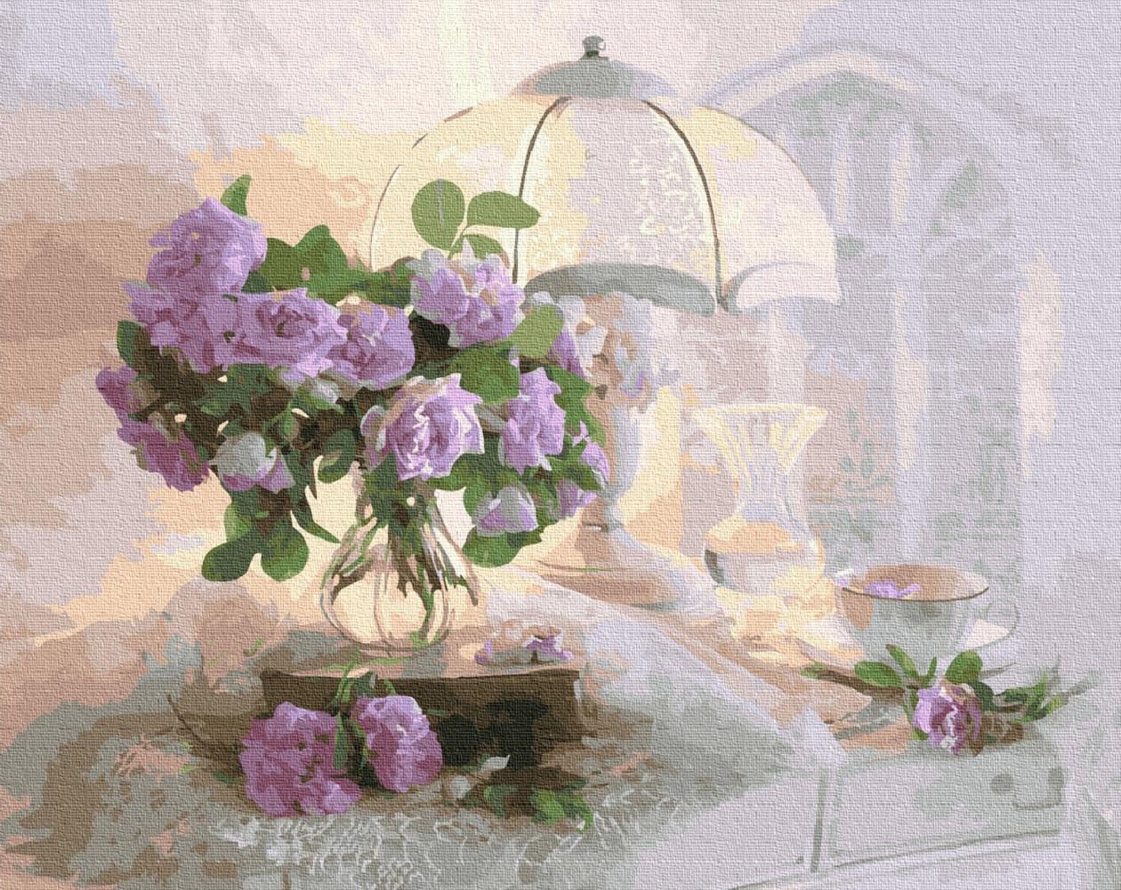 Картина по номерам Нежные цветы