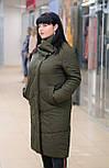 Стильное женское стеганное пальто  хаки  Elvi C83, фото 2