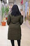 Стильное женское стеганное пальто  хаки  Elvi C83, фото 3