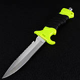 Нож для дайвинга DK-0002 в ножнах (длина: 27cm, лезвие: 14cm), фото 4