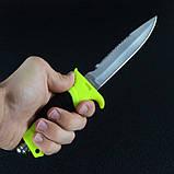 Нож для дайвинга DK-0002 в ножнах (длина: 27cm, лезвие: 14cm), фото 6
