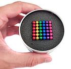 ОПТ ОПТ Кольоровий неокуб веселка оригінал Neocube Rainbow colour mix 216 кульок 5 мм в боксі, фото 3