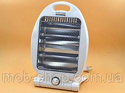 Кварцовий обігрівач Heater CB 7745 Crownberg Quartz 800Вт (міні обігрівач для квартири і будинки)