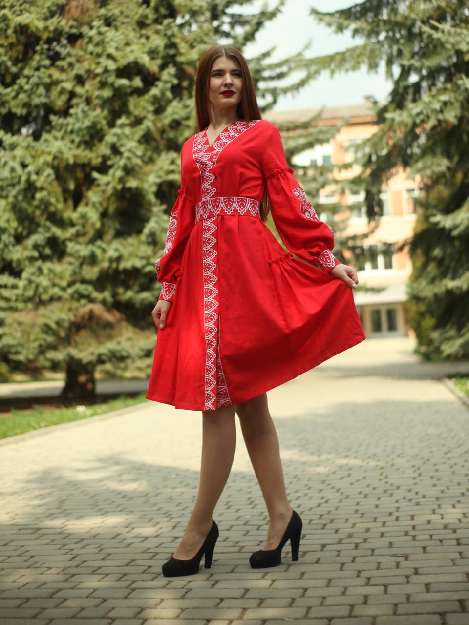 """Женское вышитое платье """"Анита"""" PJ-0038"""