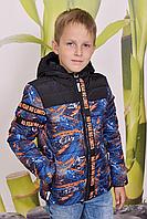 Весенняя куртка детская на мальчика синтепух (В наличии 28,30,32)