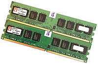 Пара оперативной памяти Kingston DDR2 4Gb (2Gb+2Gb) 667MHz PC2 5300U 2R8 CL5 (KTD-DM8400B/2G) Новая!, фото 1