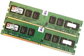 Пара оперативной памяти Kingston DDR2 4Gb (2Gb+2Gb) 667MHz PC2 5300U 2R8 CL5 (KTD-DM8400B/2G) Новая!