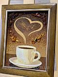 """Картина -  панно из янтаря """"Чашечка кофе"""", картина з бурштину Чашка кави 15x20 см, фото 3"""