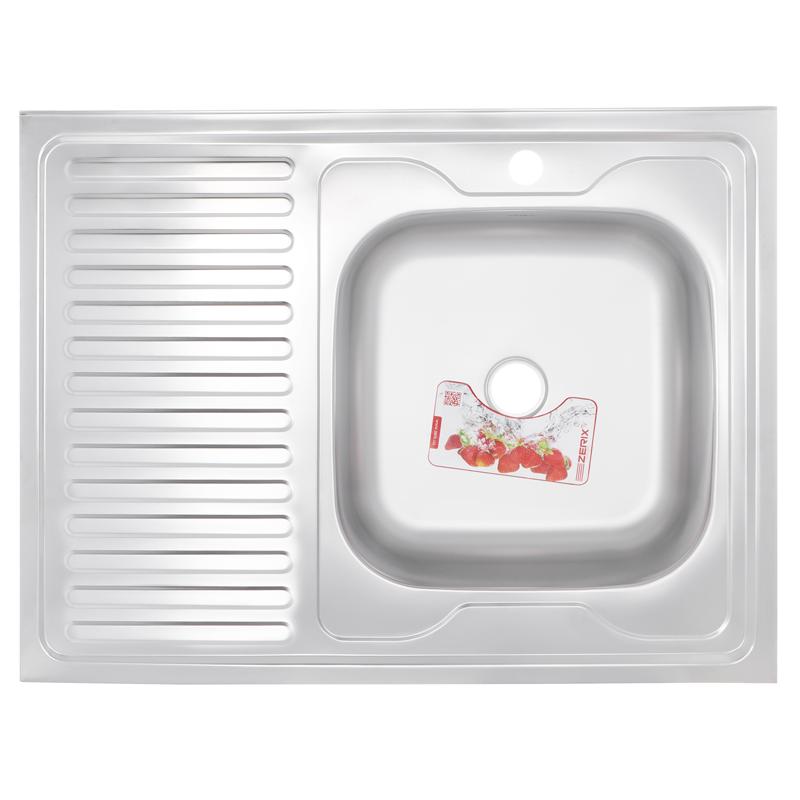 Мойка кухонная ZERIX Z8060R-06-160P (POLISH) (ZS0607)
