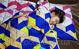 Детское утяжеленное одеяло. 110х140см, 4кг, с наполнителем из гречневой шелухи (лузги).