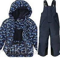 """Лыжный термокостюм синяя куртка """"Горы"""" и синие штаны-комбинезон для мальчика Crivit Pro р.98/104см"""