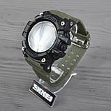 Часы, смарт-браслет Skmei 1188, черный-армейский зеленый, в металлическом боксе, фото 2