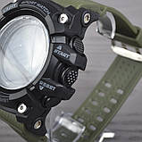 Часы, смарт-браслет Skmei 1188, черный-армейский зеленый, в металлическом боксе, фото 3