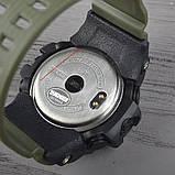 Часы, смарт-браслет Skmei 1188, черный-армейский зеленый, в металлическом боксе, фото 4