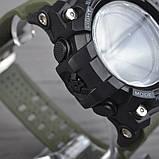 Часы, смарт-браслет Skmei 1188, черный-армейский зеленый, в металлическом боксе, фото 5