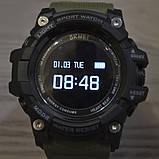 Часы, смарт-браслет Skmei 1188, черный-армейский зеленый, в металлическом боксе, фото 6