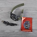 Часы, смарт-браслет Skmei 1188, черный-армейский зеленый, в металлическом боксе, фото 7