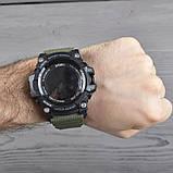Часы, смарт-браслет Skmei 1188, черный-армейский зеленый, в металлическом боксе, фото 8