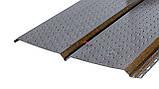 Софіт металевий для підшивки даху Темне дерево (металевий сайдинг під дошку ), фото 2