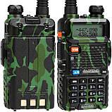 Рация Baofeng UV-5R (5W, VHF/UHF, 136-174 MHz/400-470 MHz, до 5 км, 128 каналов, АКБ), камуфляжная, фото 3