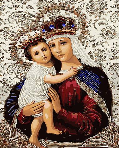 Картина по номерам 40х50см. gx3475 Икона Божией Матери Rainbow, фото 2