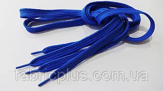 Шнурки в кроссовки плоские 100 см василек (10 мм)