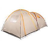 Палатка туристическая четырехместная КЕМПИНГ Tougether 4PE, бежевая (420х250х160/180см), фото 3