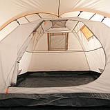 Палатка туристическая четырехместная КЕМПИНГ Tougether 4PE, бежевая (420х250х160/180см), фото 5