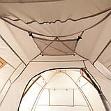 Палатка туристическая четырехместная КЕМПИНГ Tougether 4PE, бежевая (420х250х160/180см), фото 6