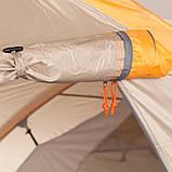 Палатка туристическая четырехместная КЕМПИНГ Tougether 4PE, бежевая (420х250х160/180см), фото 8