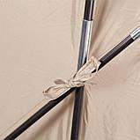 Палатка туристическая четырехместная КЕМПИНГ Tougether 4PE, бежевая (420х250х160/180см), фото 9