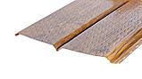 Софіт металевий для підшивки даху Темне дерево (металевий сайдинг під дошку ), фото 6