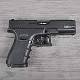 Пистолет сигнальный, стартовый Retay Glock G 17 (9мм, 14 зарядов), черный, фото 3