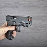 Пистолет сигнальный, стартовый Retay Glock G 17 (9мм, 14 зарядов), черный, фото 7
