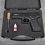 Пистолет сигнальный, стартовый Retay Glock G 17 (9мм, 14 зарядов), черный, фото 9