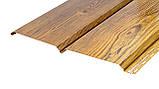 Софіт металевий для підшивки даху Темне дерево (металевий сайдинг під дошку ), фото 8