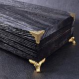 Шампуры ручной работы рукоять кап клена, в деревянном кейсе, фото 2